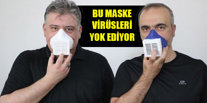 Bu elektronik maske virüsleri yok ediyor