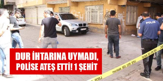 Kimlik kontrolü yapmak isteyen polislere ateş açıp, kaçtı: 1 polis şehit
