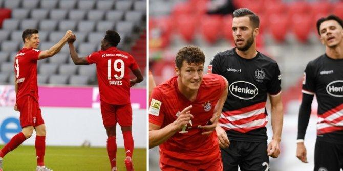 Bayern Münih, Fortuna Düsseldorf'u ateşe itti