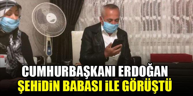 Cumhurbaşkanı Erdoğan şehidin babası ile görüştü