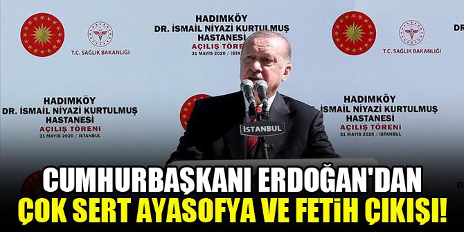 Cumhurbaşkanı Erdoğan'dan İstanbul'un fethine 'işgal' diyenlere tepki