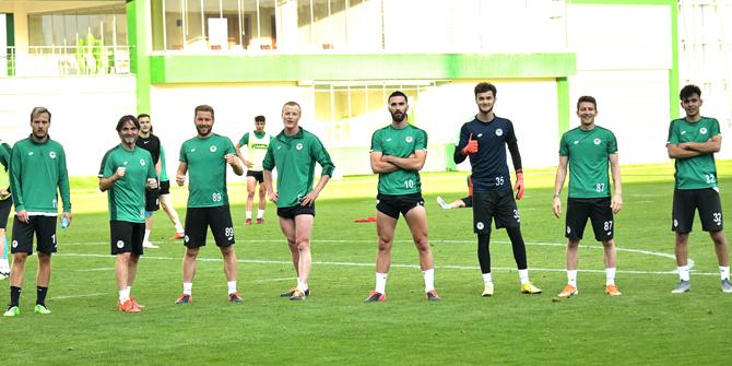 Konyaspor'da kazanan yeşil takım