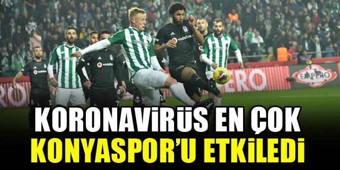 Koronavirüs en çok Konyaspor'u etkiledi