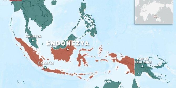 Endonezya'da 5,5 büyüklüğündedeprem