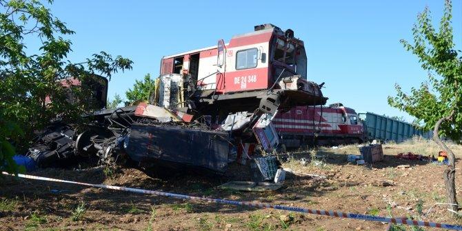 Malatya'da iki yük treni çarpıştı: 1 ölü, 3 yaralı
