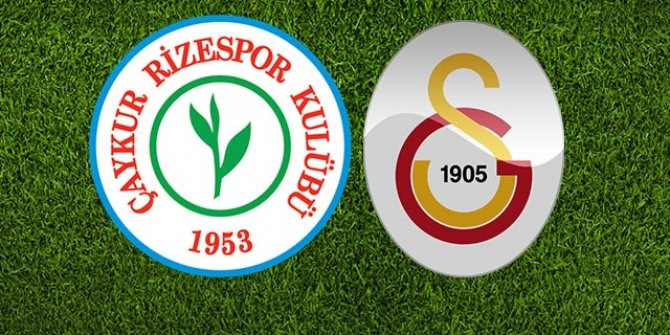 Galatasaray ile Çaykur Rizespor 38. randevuda