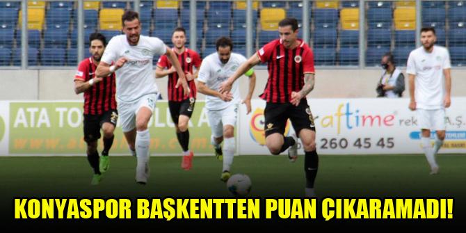 Konyaspor başkentten puan çıkaramadı!
