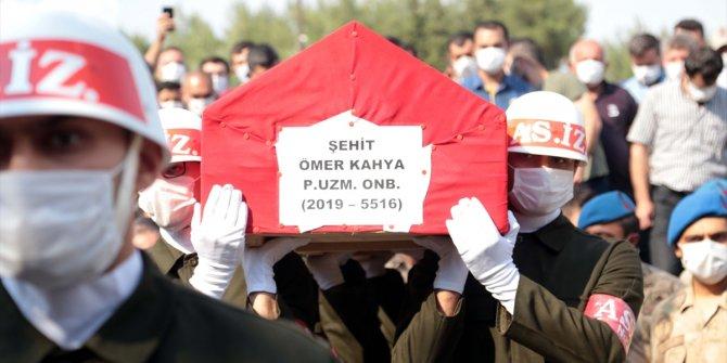 Şehit Piyade Uzman Onbaşı Ömer Kahya son yolculuğuna uğurlandı