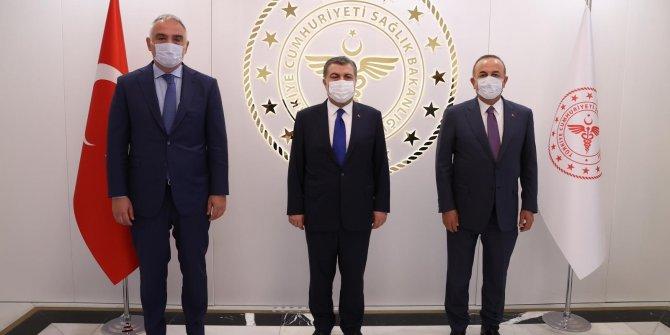Ersoy, Çavuşoğlu ve Koca turizmde alınacak tedbirleri görüştü