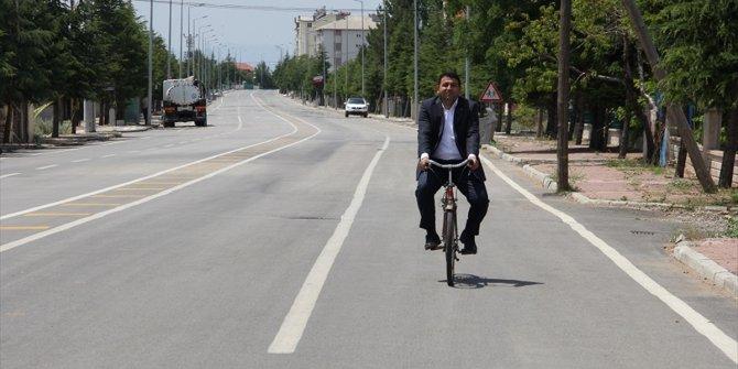 """Yalıhüyük Kaymakamı Kılınç'tan """"Bisiklet kullanın"""" tavsiyesi"""