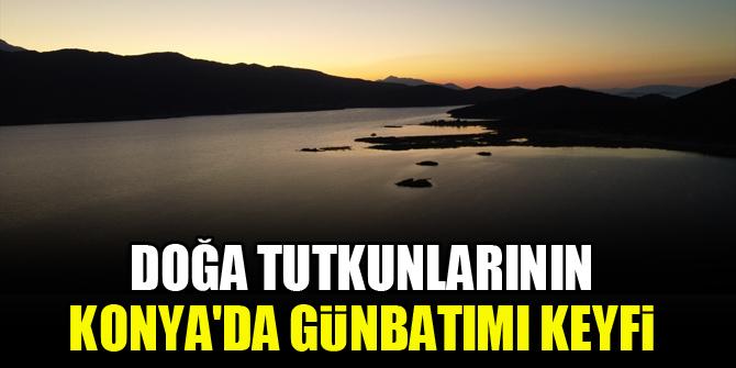 Doğa tutkunlarının Konya'da günbatımı keyfi