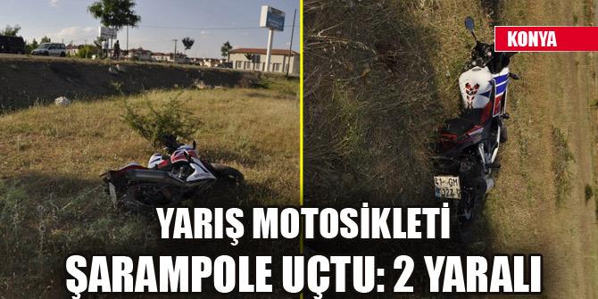 Yarış motosikleti şarampole uçtu: 2 yaralı