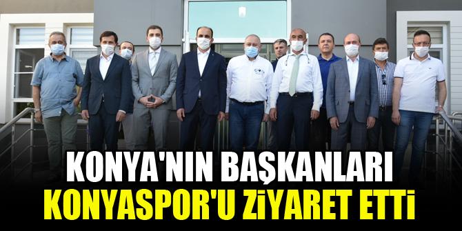 Konya'nın Başkanları Konyaspor'u ziyaret etti
