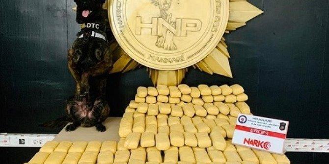 Hakkari'de 104 kilo 200 gram eroin ele geçirildi