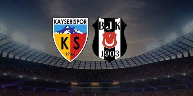 Beşiktaş'ın Kayserispor maçı ilk 11'i belli oldu!