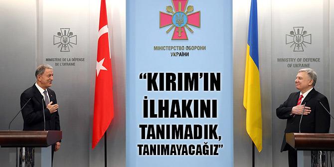 Akar: Biz Türkiye olarak Kırım'ın ilhakını tanımadık, tanımayacağız