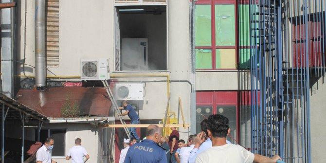Sinop Polisevi'nde çıkan baca yangını korkuttu