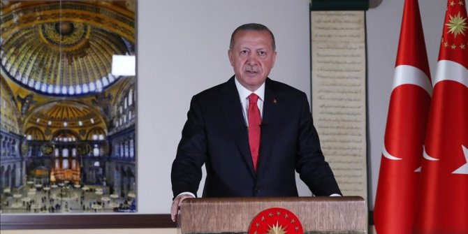 Hagia Sophia to be open for all: Turkish president