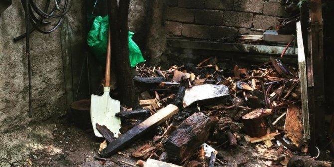 Van'da odunluk yangını