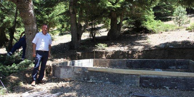 Gölcük Yaylası'nda doğal kaynak suyu deposu yapılıyor