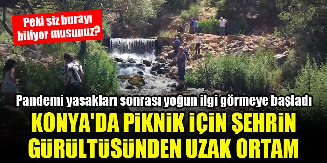 Konya'da piknik için şehrin gürültüsünden uzak ortam...Peki siz burayı biliyor musunuz?