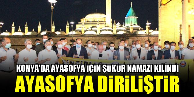 Konya'da Ayasofya için şükür namazı kılındı