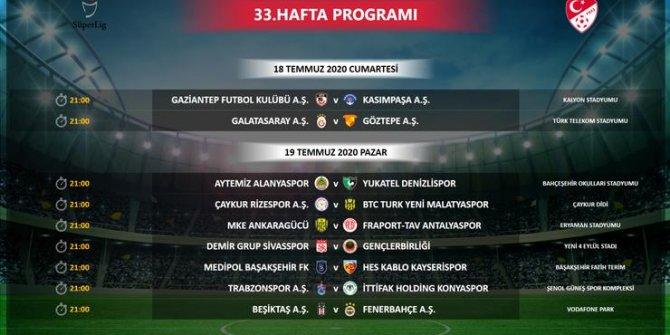 Süper Lig'in 33. haftasında değişiklik yapıldı!