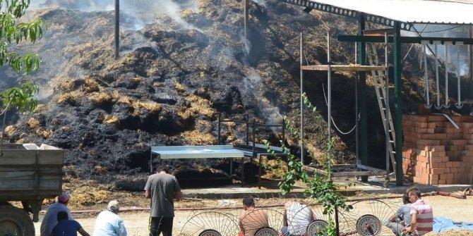 25 hayvan telef oldu, yanan çiftliği çaresizce izlediler