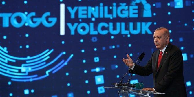 """Cumhurbaşkanı Erdoğan'dan """"Türkiye'nin Otomobili"""" paylaşımı"""