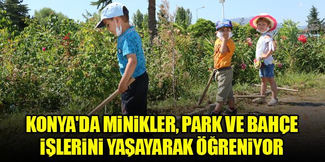 Konya'da minikler, park ve bahçe işlerini yaşayarak öğreniyor