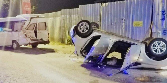 Takla atan aracın sürücüsü kayıplara karıştı: 3 kişi yaralandı