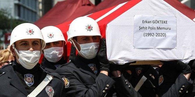 Şehit polis memuru Gökteke son yolculuğuna uğurlandı