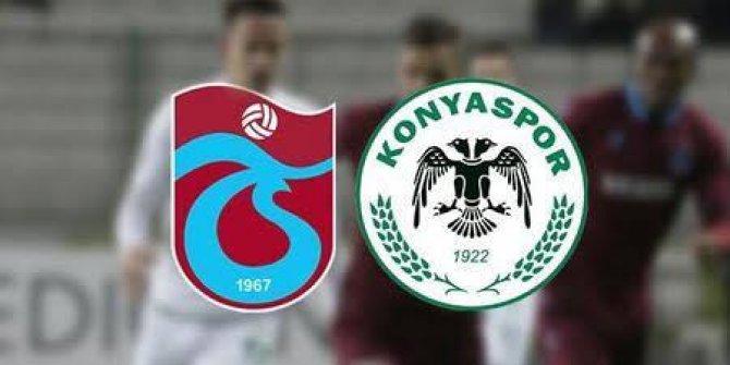 Süper Lig: Trabzonspor: 1- İttifak Holding Konyaspor: 1 (İlk yarı)