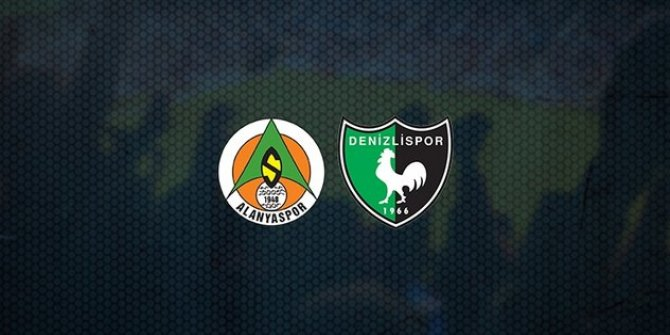 Süper Lig: Aytemiz Alanyaspor: 0 - Yukatel Denizlispor: 0 (İlk yarı)