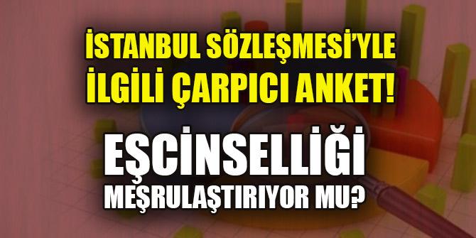 İstanbul Sözleşmesi'yle ilgili çarpıcı anket! Eşcinselliği meşrulaştırıyor mu?