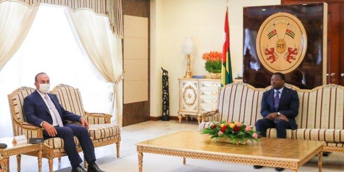 Dışişleri Bakanı Çavuşoğlu, Togo Cumhurbaşkanı Gnassingbé ile görüştü