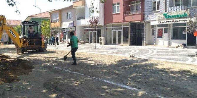Hisarcık Belediyesi'nden çevre düzenleme ve peyzaj çalışması