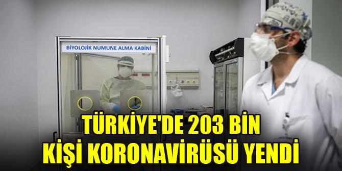 Türkiye'de 203 bin kişi koronavirüsü yendi