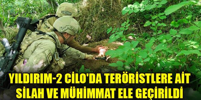 Yıldırım-2 Cilo'da teröristlere ait silah ve mühimmat ele geçirildi