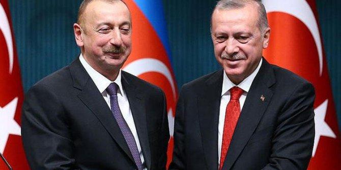 Azerbaycan Cumhurbaşkanı Aliyev'den Erdoğan'a teşekkür