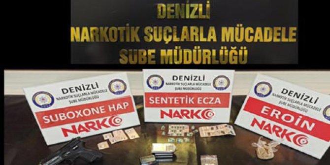 Denizli'deki uyuşturucu operasyonuna 11 tutuklama
