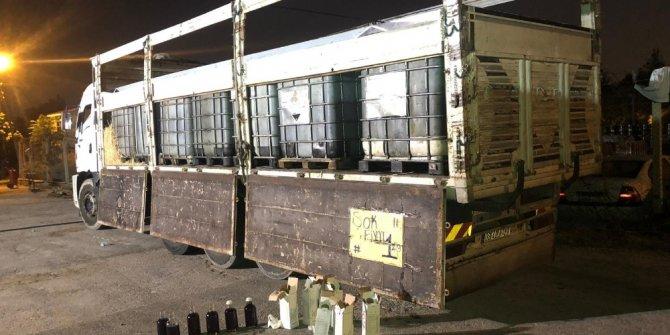Kamyonda 14,5 ton kaçak akaryakıt ele geçirildi