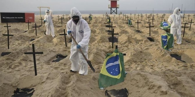 Covid-19 : 1 367 nouveaux décès au Brésil, au cours des 24 dernières heures