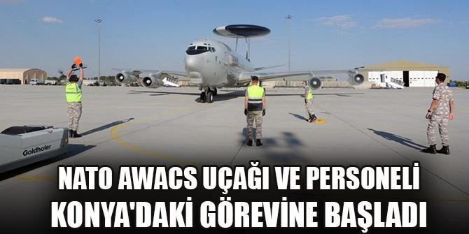 NATO AWACS uçağı ve personeli Konya'daki görevine başladı