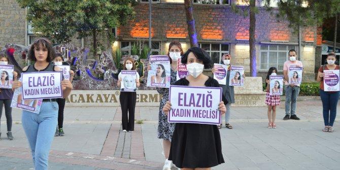Elazığ'da kadınlar Pınar Gültekin için bir araya geldi