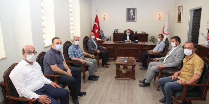 """AK Parti İl Başkanı Angı'dan """"Hayırlı olsun"""" ziyareti"""