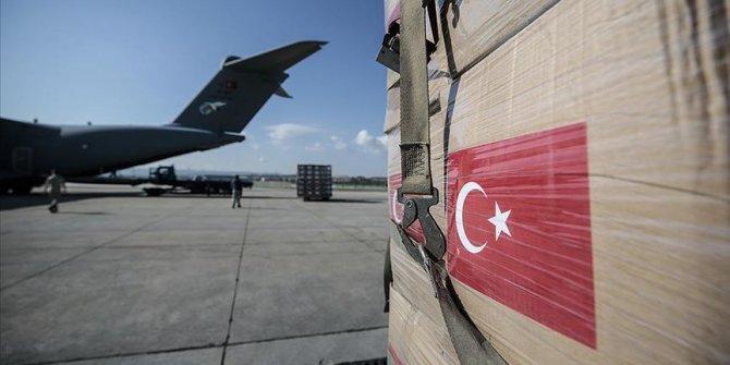 Türkiye'den üç ülkeye daha tıbbi malzeme yardımı