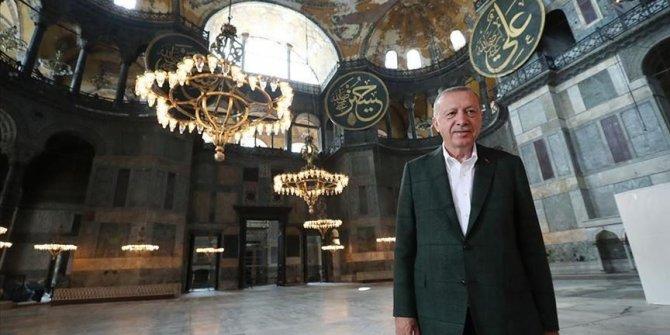 Uoči sutrašnjeg džuma-namaza: Erdogan obišao džamiju Aja Sofiju