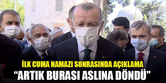 Cumhurbaşkanı Erdoğan: 350 bin kişi bugün cuma namazına iştirak etti