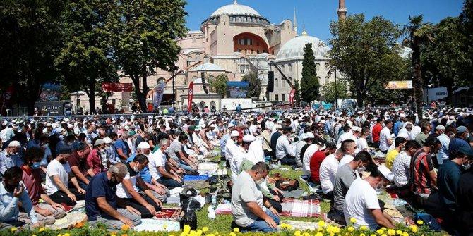 Ayasofya-i Kebir Cami-i Şerifi'nin ibadete açılması yurt genelinde sevinçle karşılandı